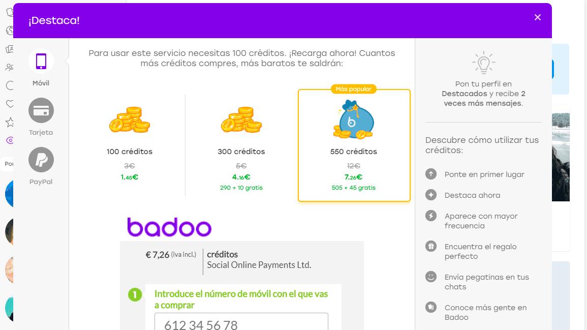 Badoo Precios