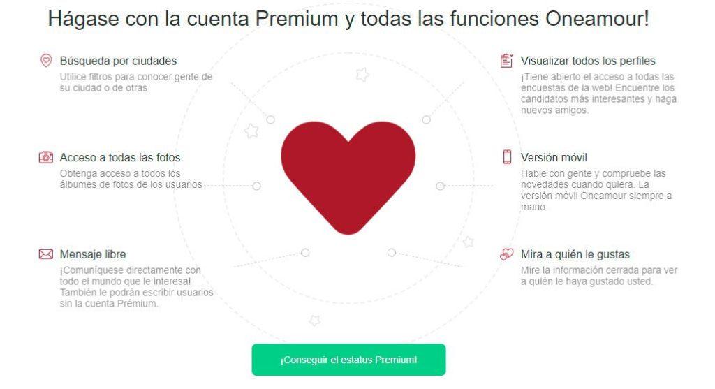 OneAmour Ventajas Premium