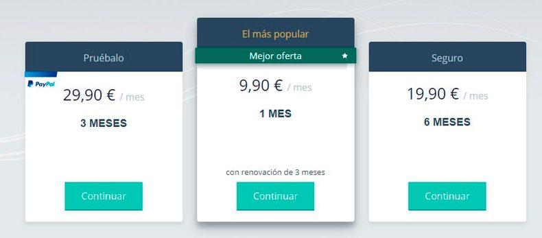 Precios de Solteros 50 España